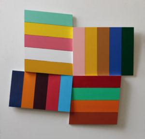 Niels Guttormsen, Propelller i nitten farver, 2008,92 x 115 x 10 cm. 42.000 kr