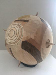 Mette Ussing, Sputnik 2017 ca. 20 cm. i diameter